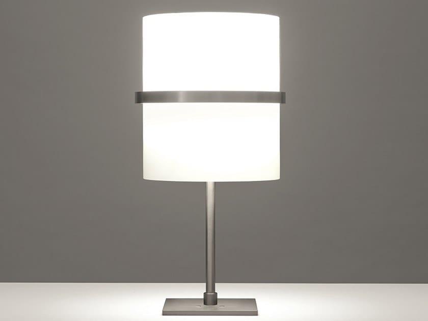 Lampada da tavolo a LED in alluminio e vetro BOA   Lampada da tavolo by Firmamento Milano