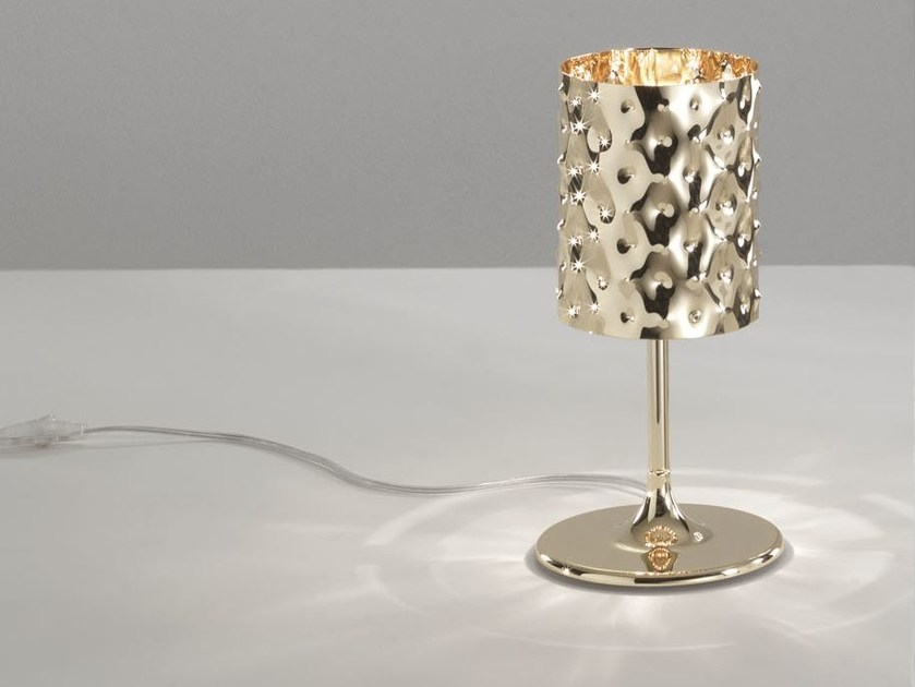 Direct-indirect light table lamp CAPITONNÈ | Table lamp by IDL EXPORT