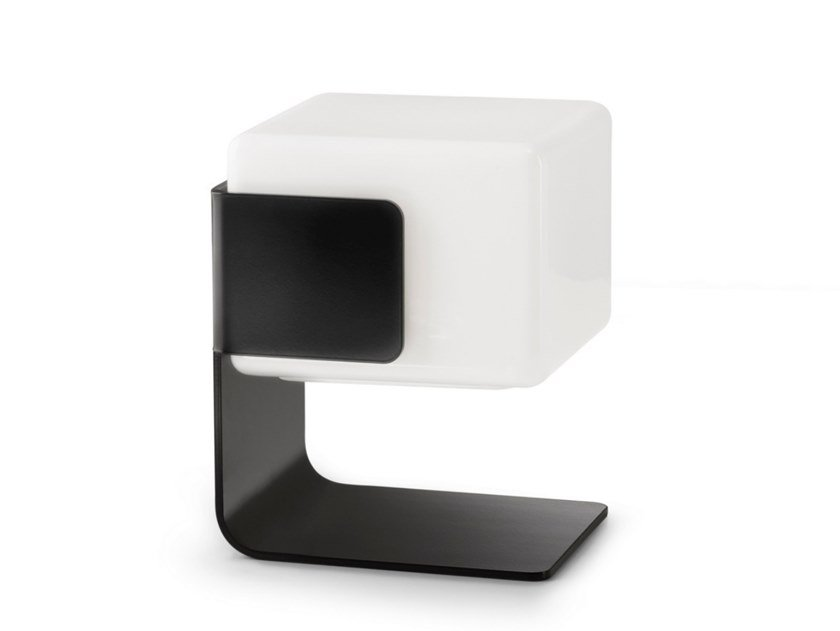 LED glass and steel table lamp CUBE | Table lamp by Inventive
