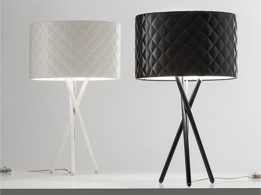 lucente lighting. Imitation Leather Table Lamp MARIÙ | By Lucente Lighting