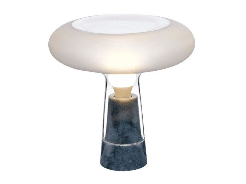Crystal table lamp with marble base ORION | Table lamp by NUDE
