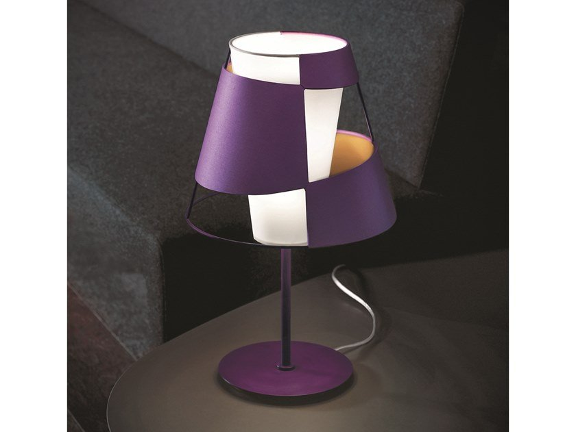 Direct-indirect light cotton table lamp CRINOLINA | Table lamp by Pallucco