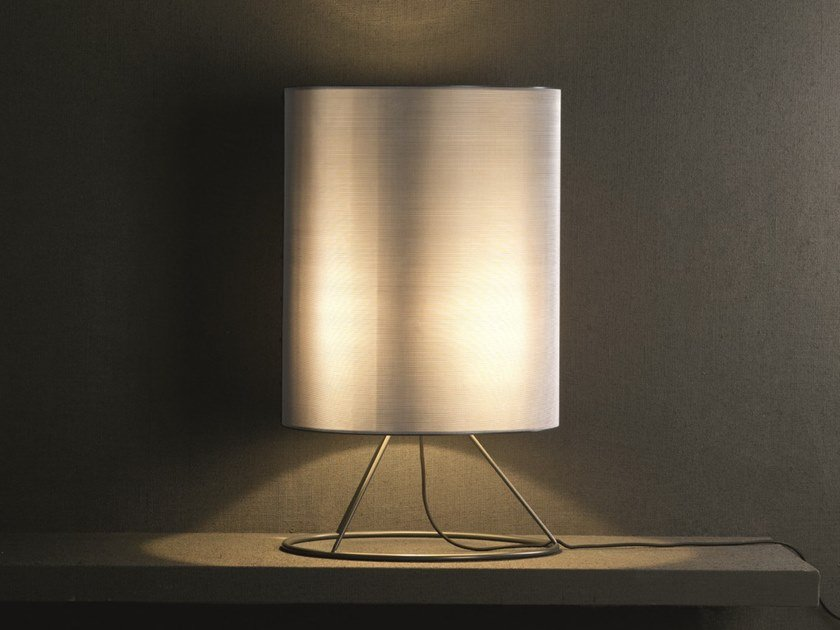 Direct-indirect light stainless steel table lamp ORLY | Table lamp by Pallucco