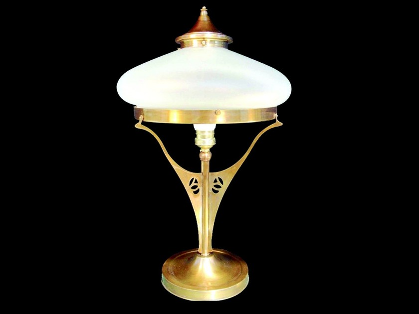 Direct light brass table lamp GENOA | Table lamp by Patinas Lighting