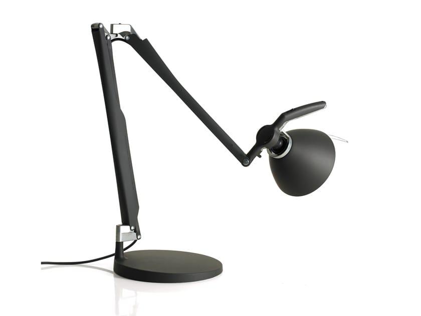 LED adjustable iron table lamp FORTEBRACCIO | Table lamp by LUCEPLAN