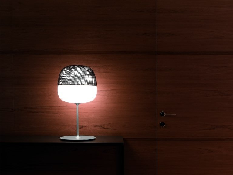 Opal glass table lamp AFRA | Table lamp by Quadrifoglio