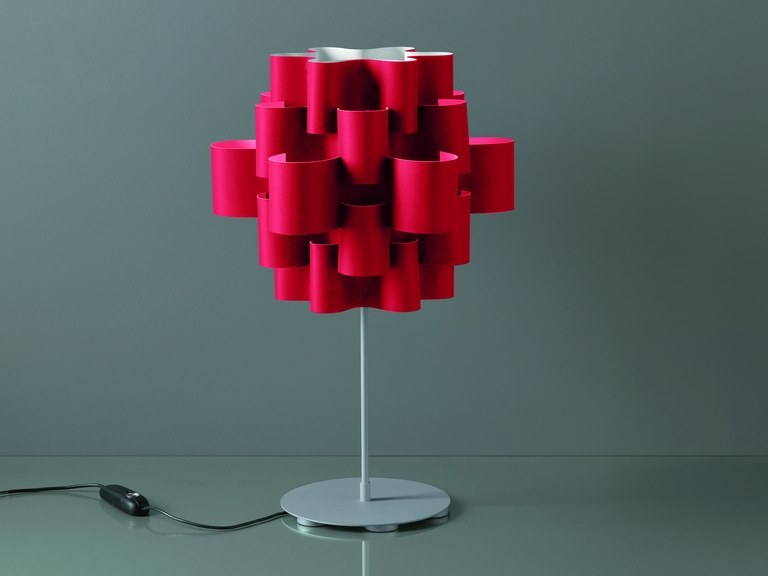 Fabric table lamp SUN | Table lamp by Quadrifoglio