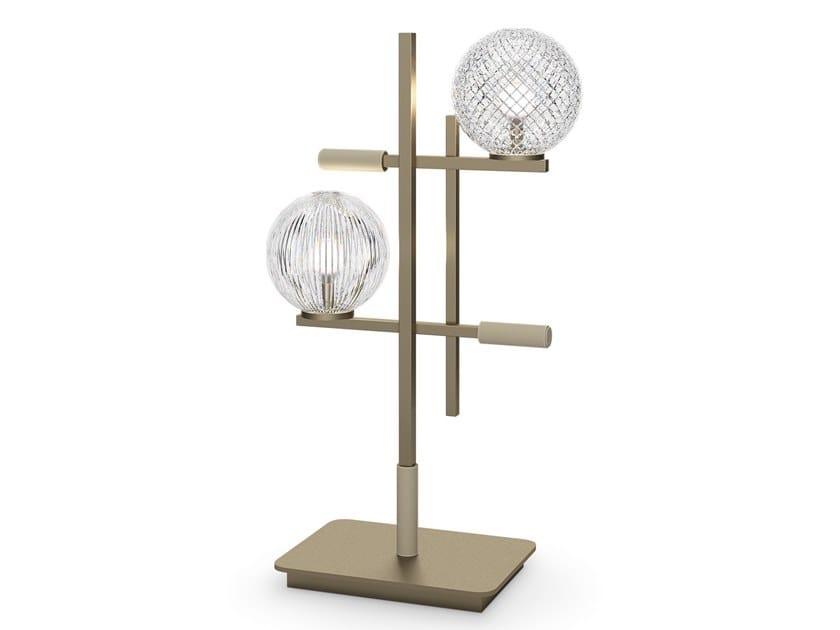 Lampada da comodino in vetro di Murano TRIS   Lampada da tavolo by Sicis