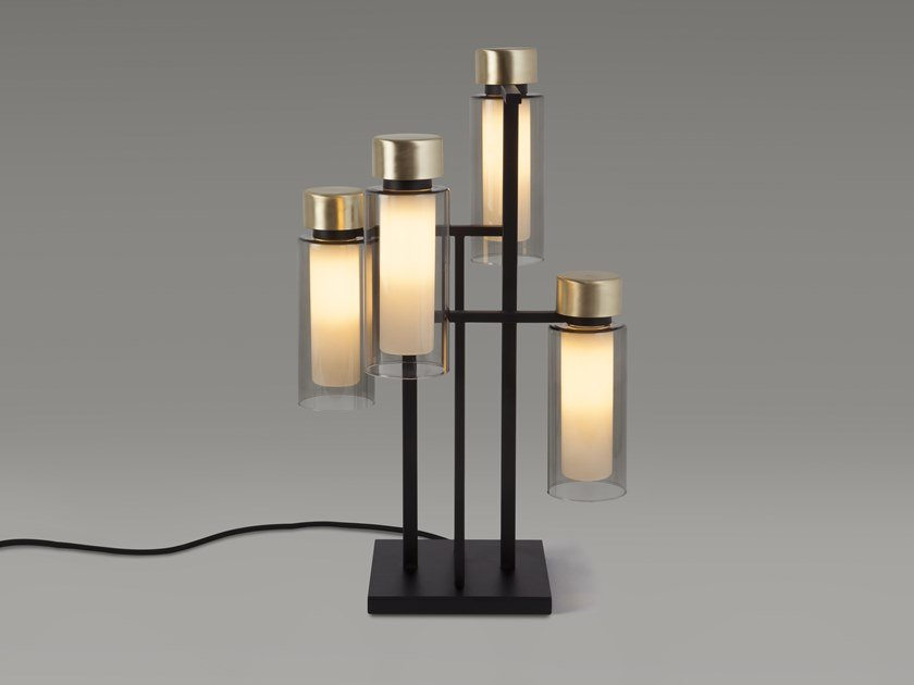 Glass table lamp OSMAN | Table lamp by Tooy