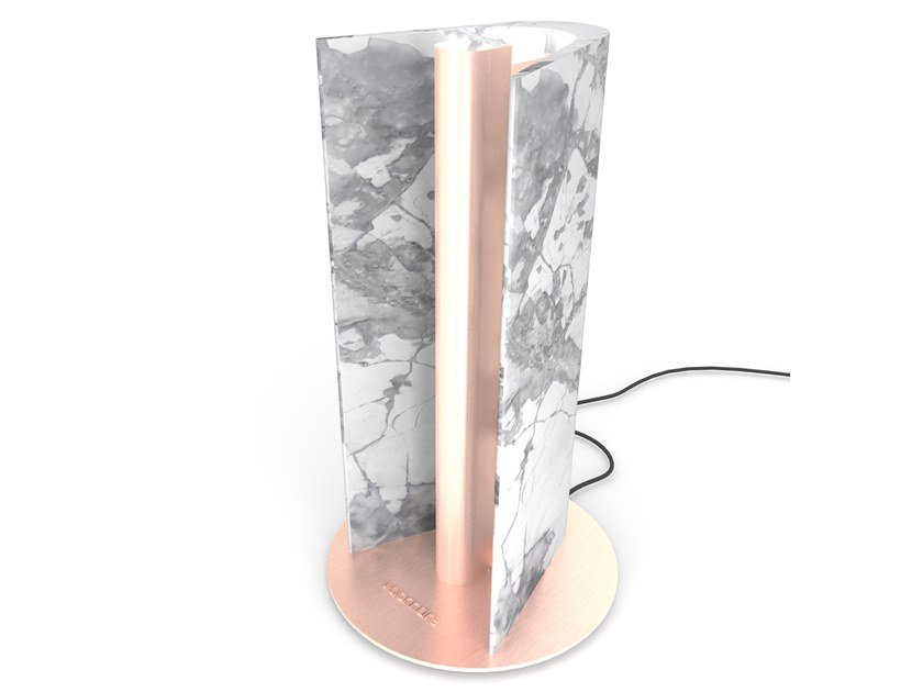 Marble table lamp WAVE | Table lamp by Visionnaire