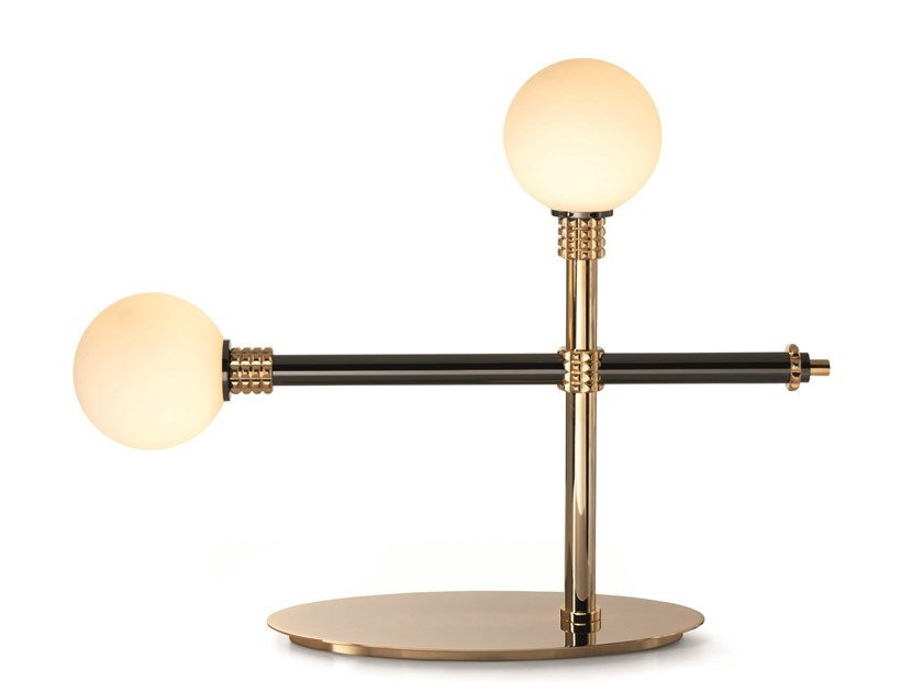 Brass table lamp with fixed arm ALPHA | Table lamp with fixed arm by Visionnaire