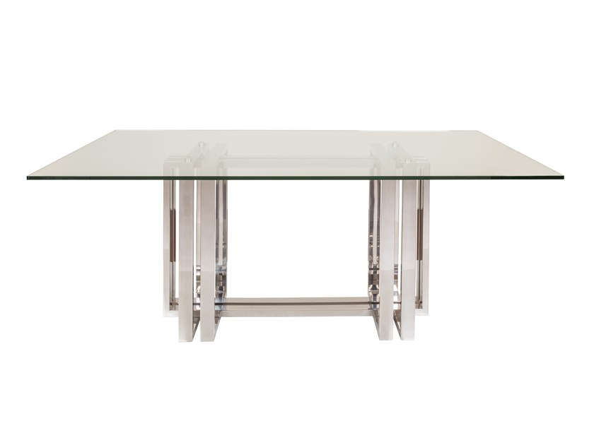 Rectangular Glass and Stainless Steel dining table VECTOR | Table by Stylish Club