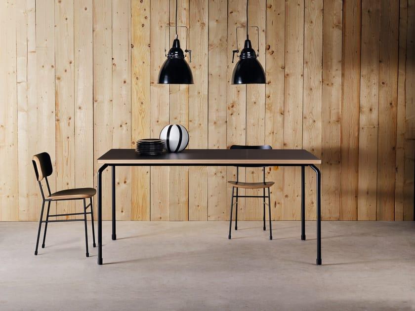 Extending rectangular Fenix-NTM® dining table MASTER | Table by Midj