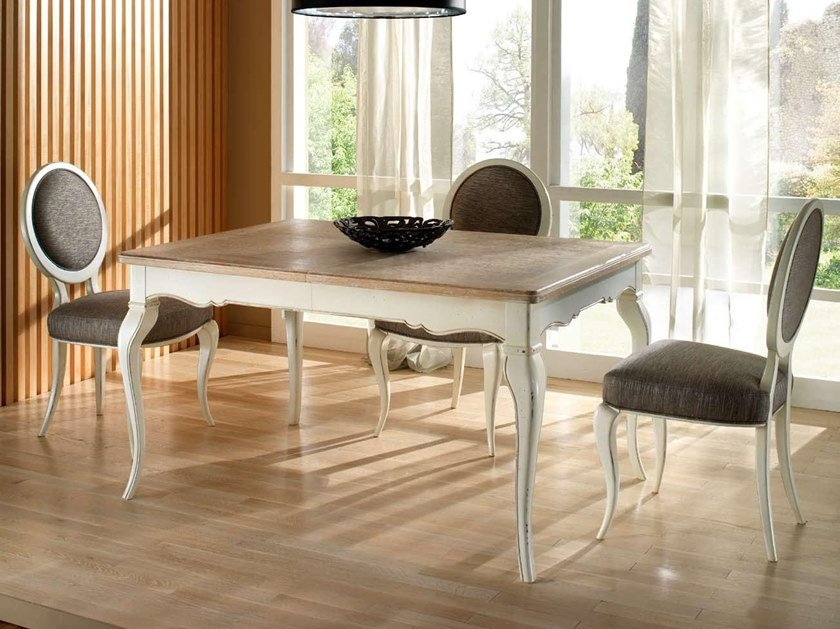 Extending lacquered rectangular wooden table CA' REZZONICO | Table by MOLETTA