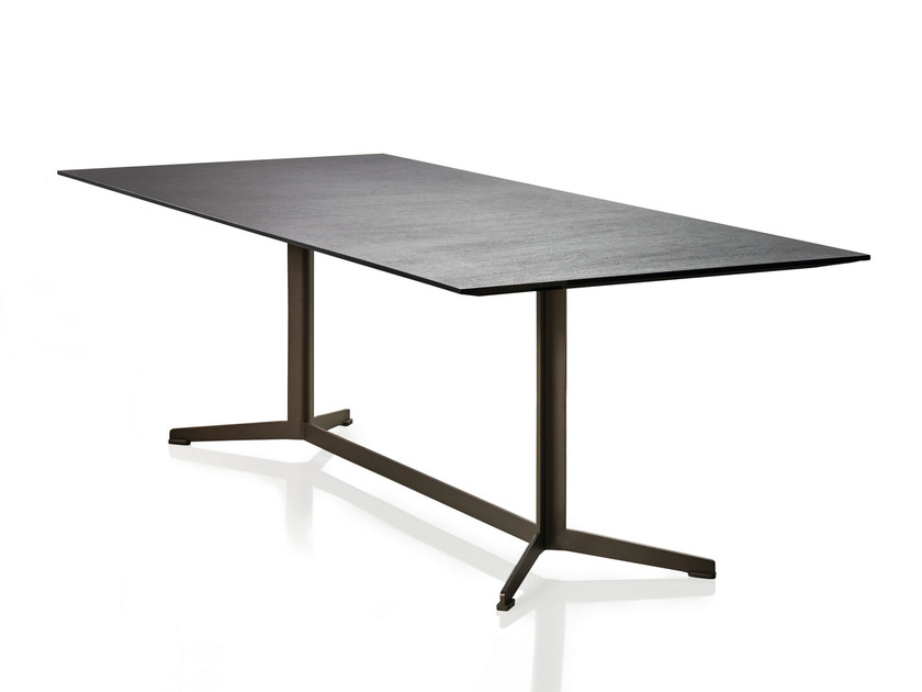 Rectangular wooden table SIMETRIA | Table by Papadatos