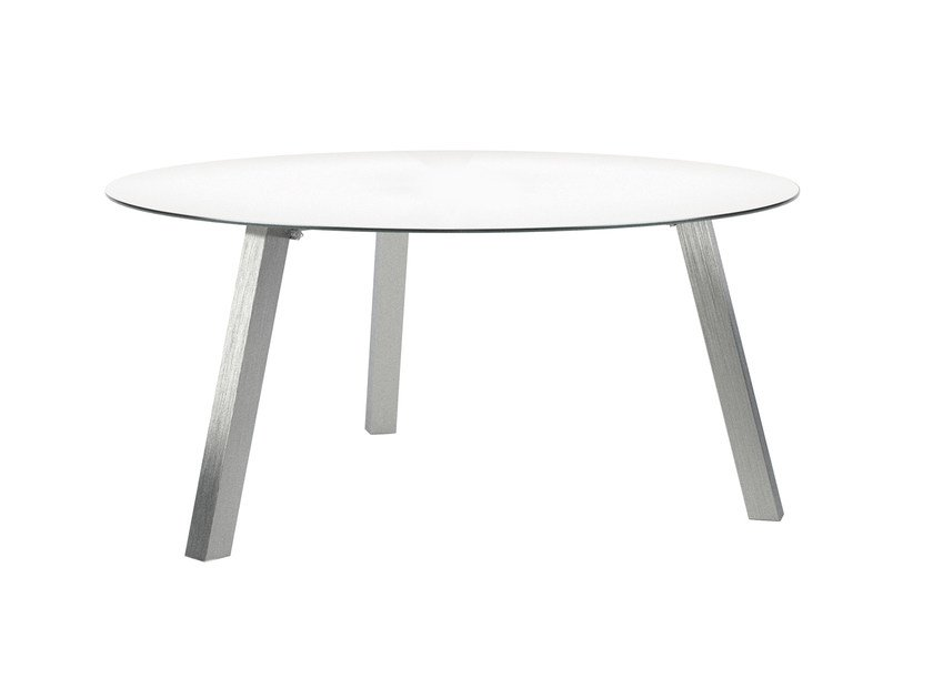 Round glass garden table DISCUS | Table by ROYAL BOTANIA