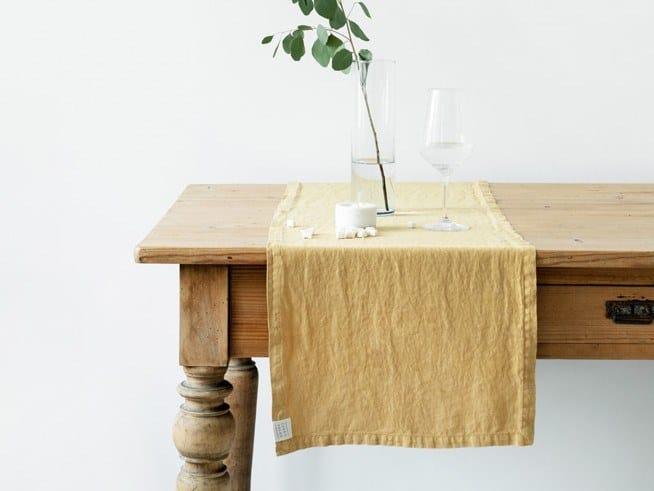 Linen Table runner HONEY | Table runner by Linen Tales