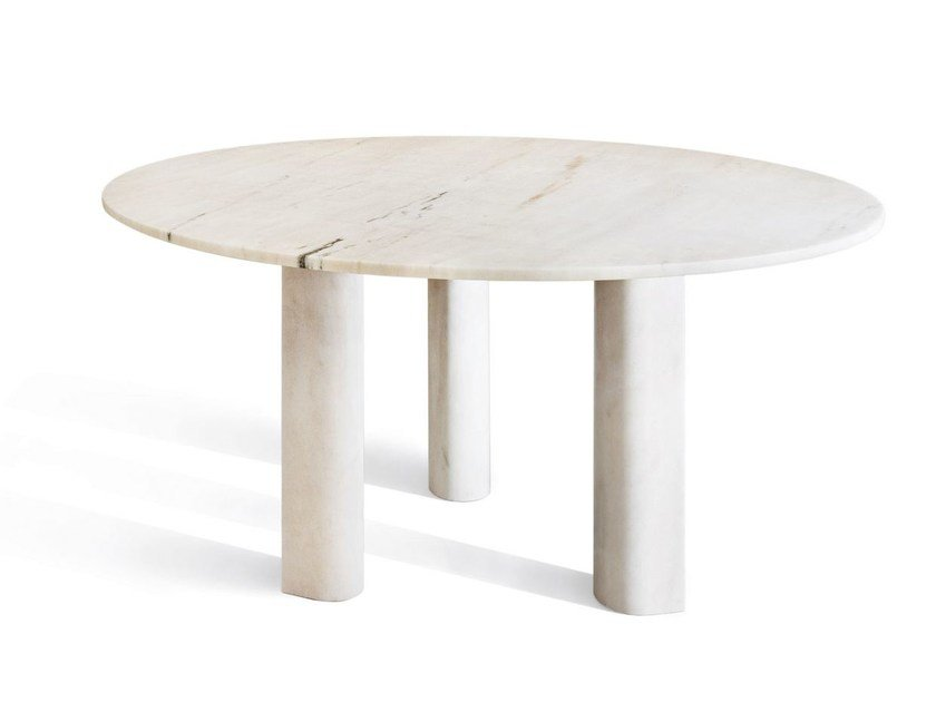 Round marble table 'LOVE ME, LOVE ME NOT' | Table by SALVATORI