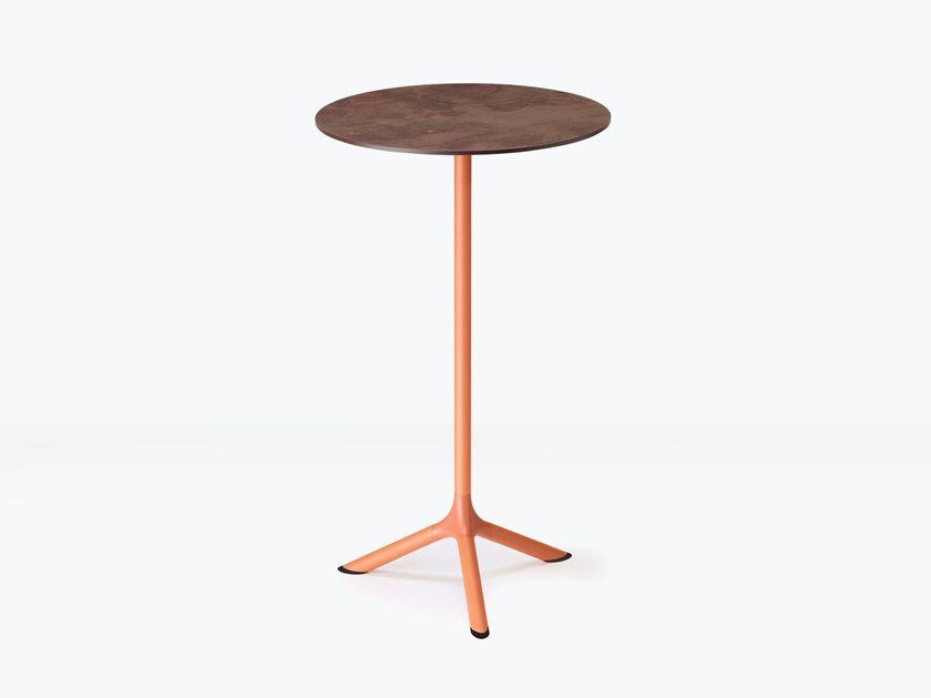 Steel high table with 3-star base TRIPÉ | High table by SCAB DESIGN