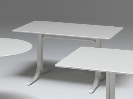 Folding rectangular steel table TABLE SYSTEM | Rectangular table by emu