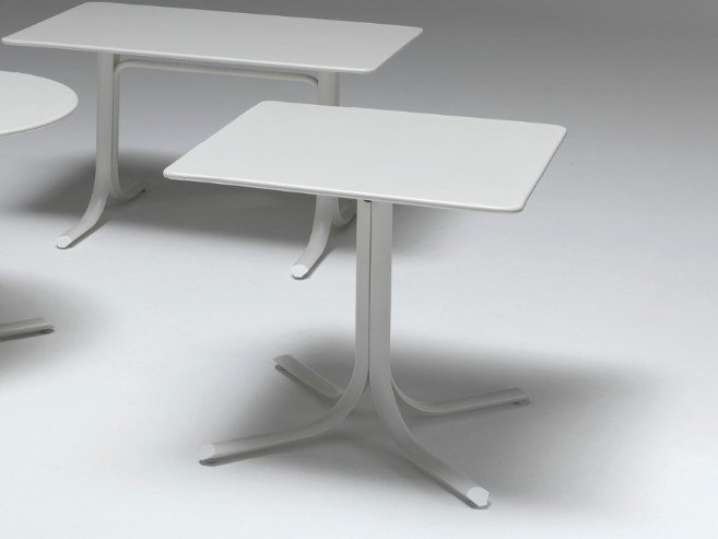 Folding square steel table TABLE SYSTEM | Square table by emu