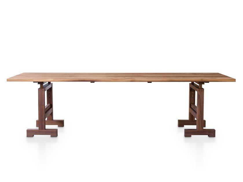 Height-adjustable rectangular solid wood table TORRE | Table by ManifestoDesign