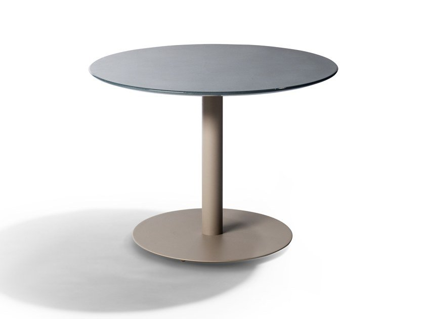 Round lava stone garden table T-TABLE | Table by TRIBÙ