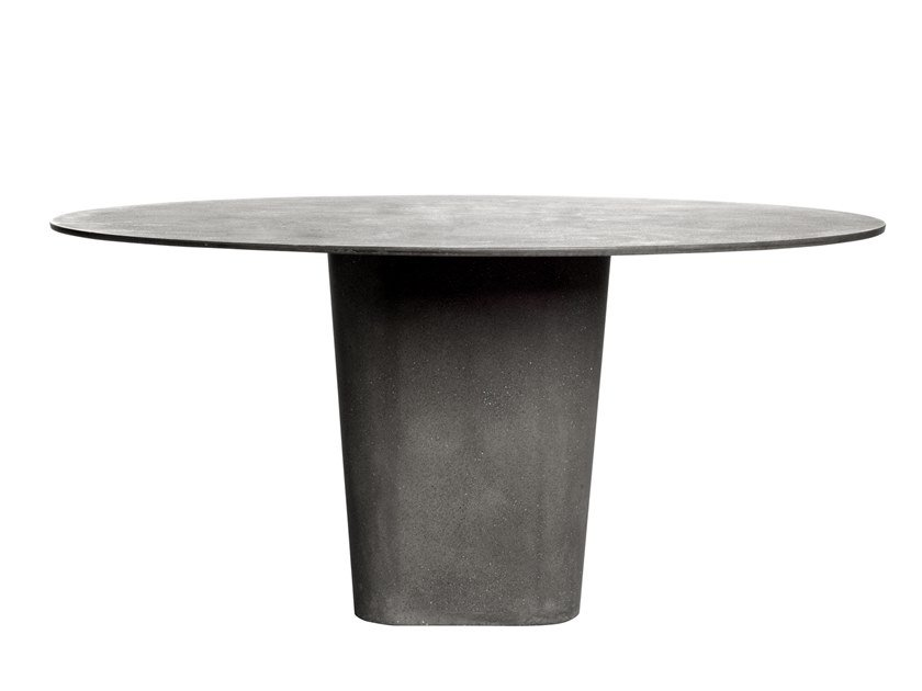 Round lightweight cement dining table TAO | Table by TRIBÙ