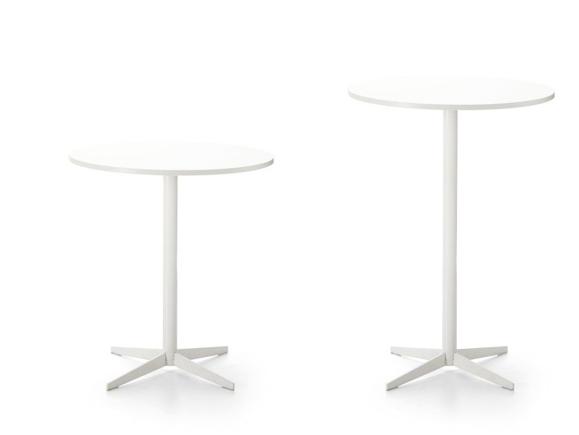Round contract table with 4-star base MULTITASK | Table with 4-star base by Sinetica