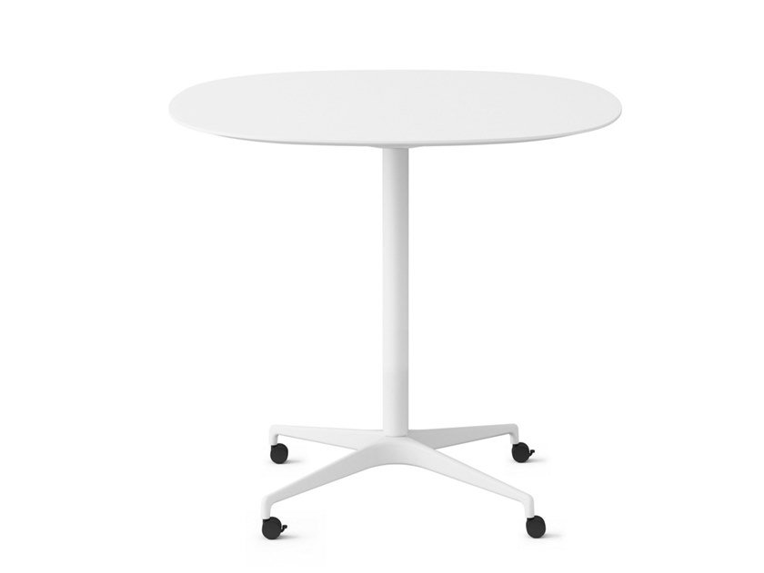 Oval table with castors CIVIC | Table with castors by Herman Miller