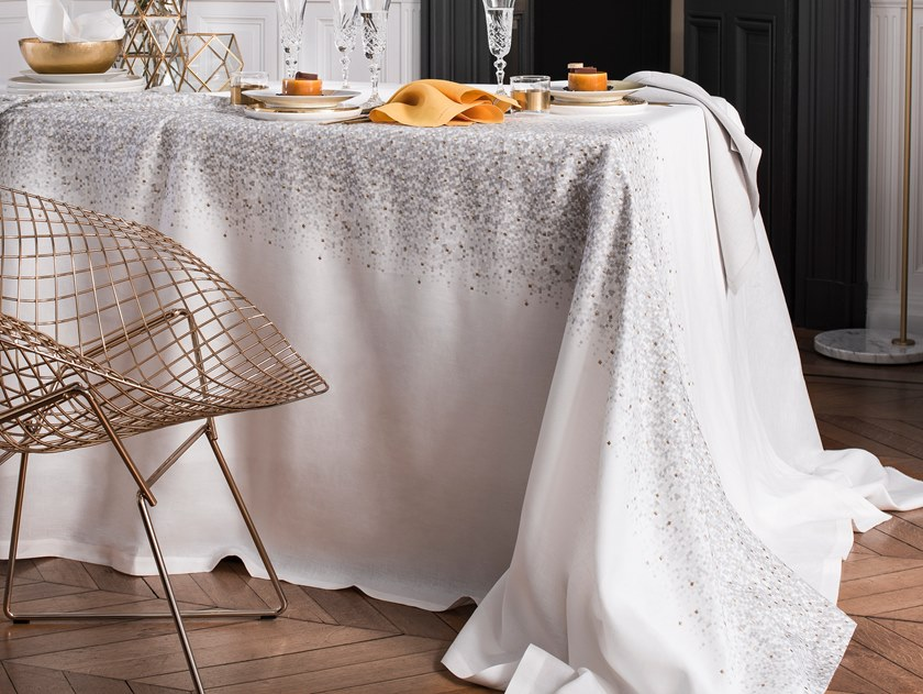 Linen tablecloth METEORE   Tablecloth by Alexandre Turpault