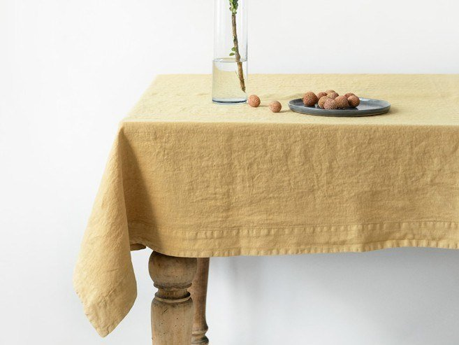 Linen tablecloth HONEY | Tablecloth by Linen Tales