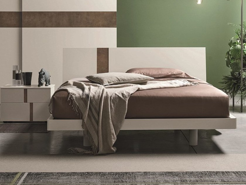 Lacquered double bed TABLET | Lacquered bed by Gruppo Tomasella