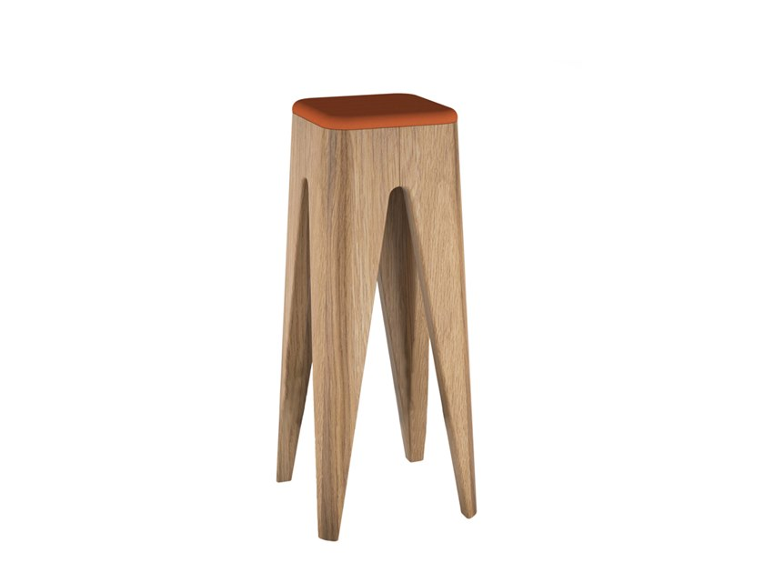 High solid wood stool TABOURET | High stool by ESTEL GROUP