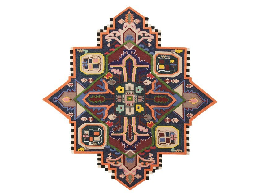 Handmade custom rug TABRIZ DESTROYER by cc-tapis