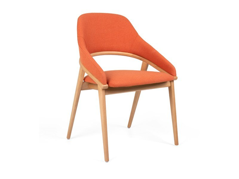 Upholstered wooden chair TÁGADA | Chair by Fenabel