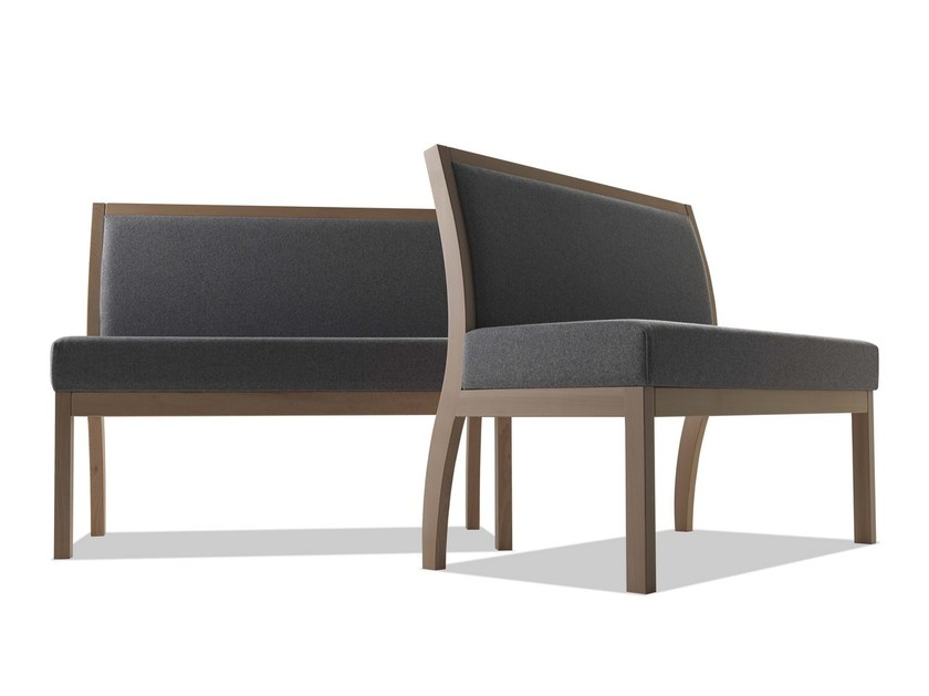 Modular fabric and beechwood bench TAI | Bench seating by Sedex
