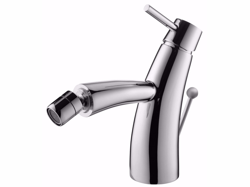 Countertop single handle chromed brass bidet mixer with swivel spout TAI CHI | Bidet mixer by JUSTIME