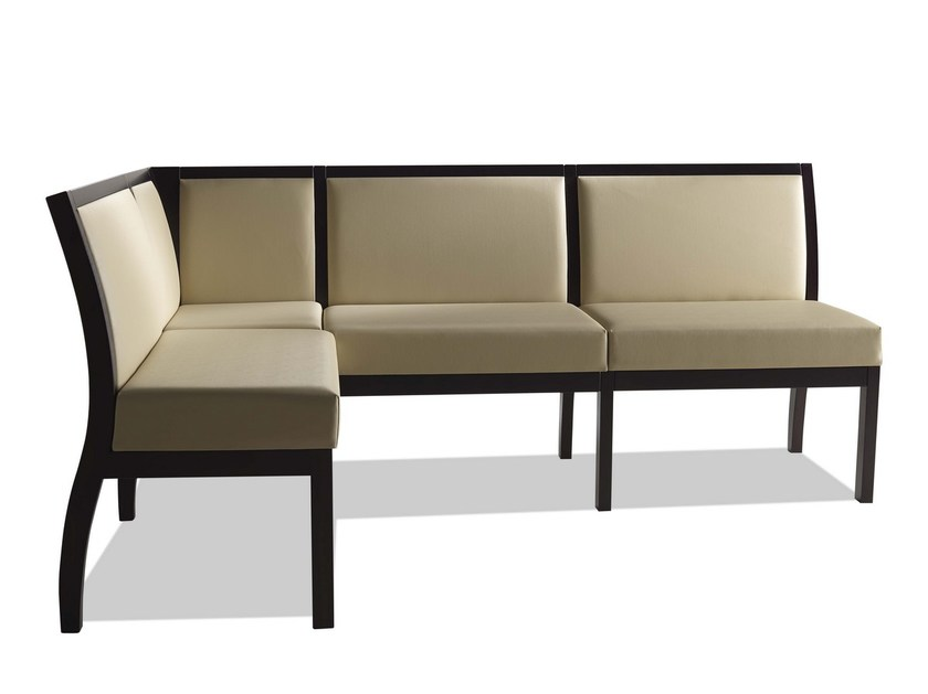 Modular imitation leather bench TAI | Imitation leather bench seating by Sedex