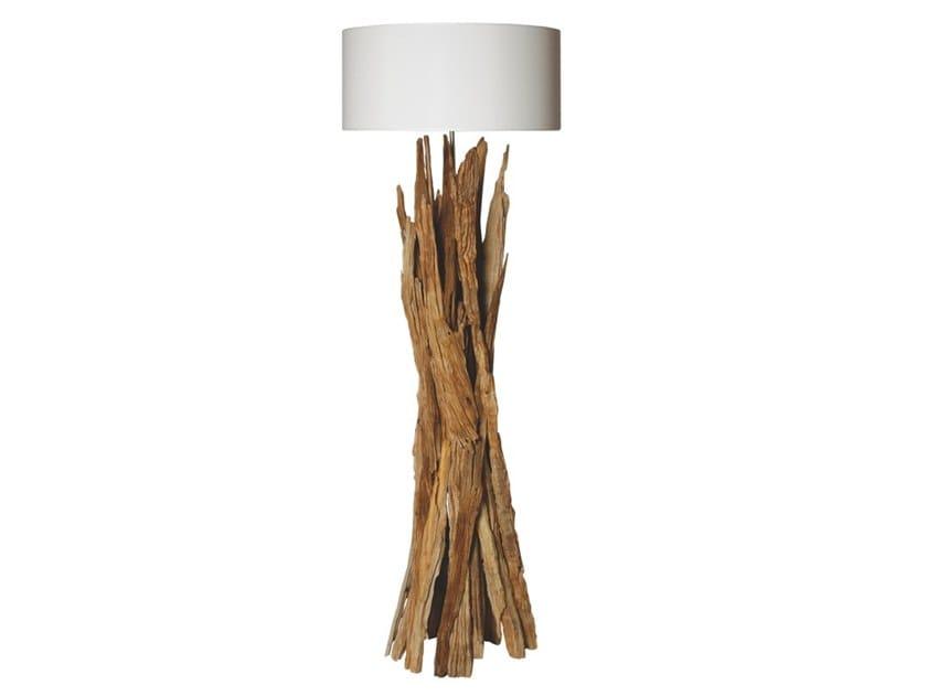 Wooden floor lamp TAIGA | Floor lamp by Flam & Luce