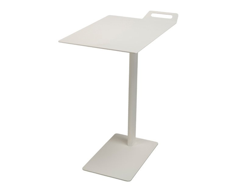 Powder coated steel table for laptop TAIL LAPTOP by Palau