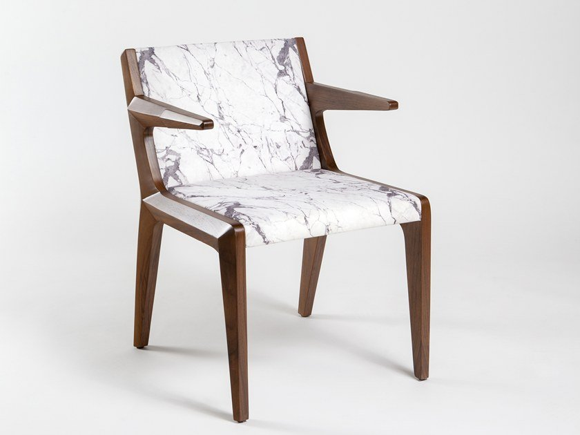 Upholstered fabric chair with armrests TAKE A SEAT | Fabric chair by KONTRA