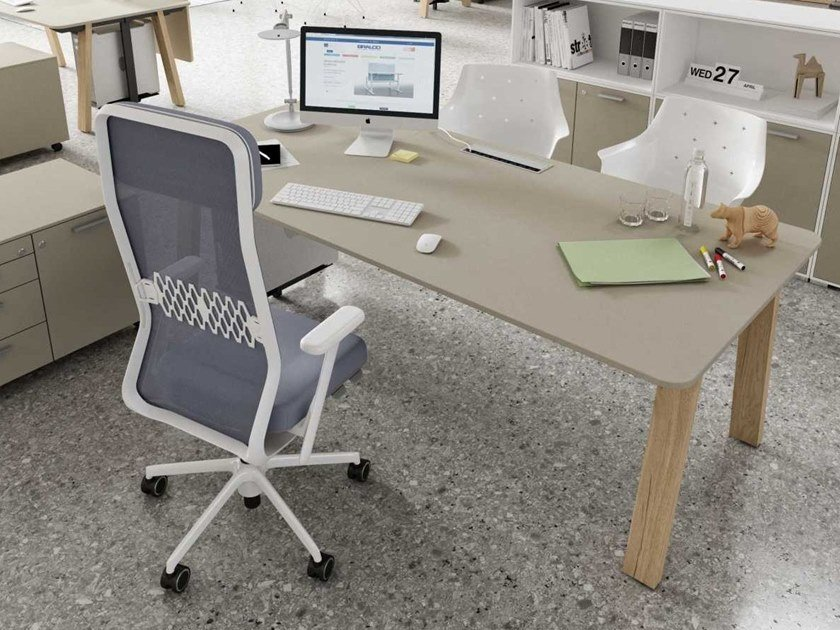 Workstation desk with cable management TAKE OFF EVOLUTION COUNTRY   Office desk by Bralco