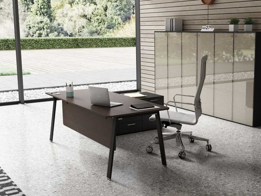 Rectangular office desk with cable management TAKE OFF EVOLUTION EVO | Office desk by Bralco