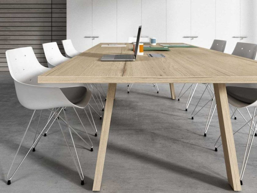 Rectangular meeting table with cable management TAKE OFF EVOLUTION FARM | Meeting table by Bralco