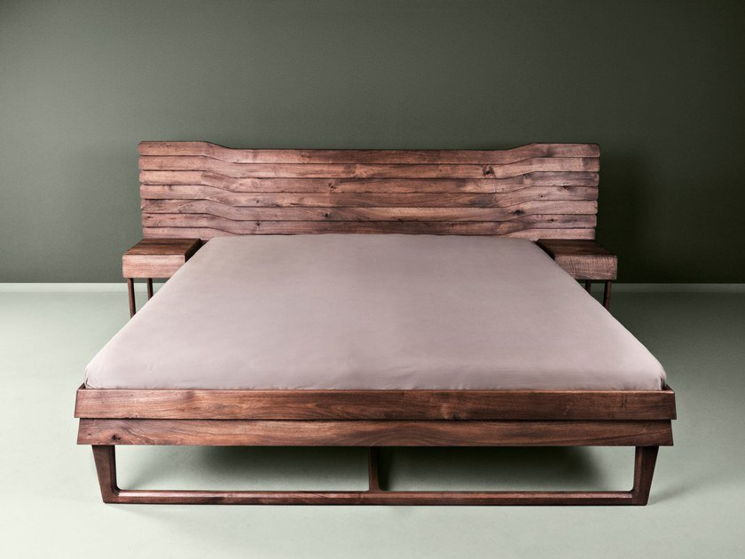 Wooden double bed B15 By more design Bernhard Müller