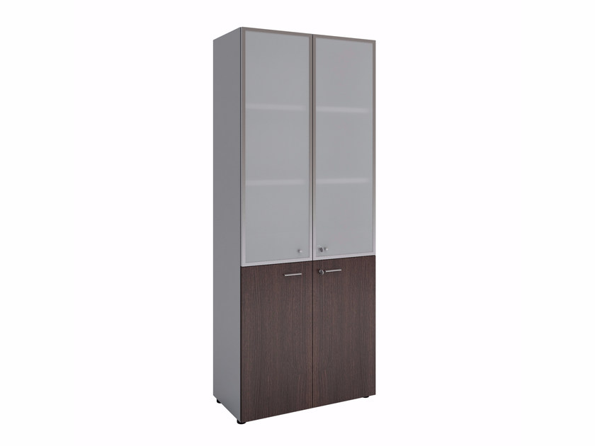 Tall office storage unit with hinged doors WARDROBES | Tall office storage unit by Quadrifoglio