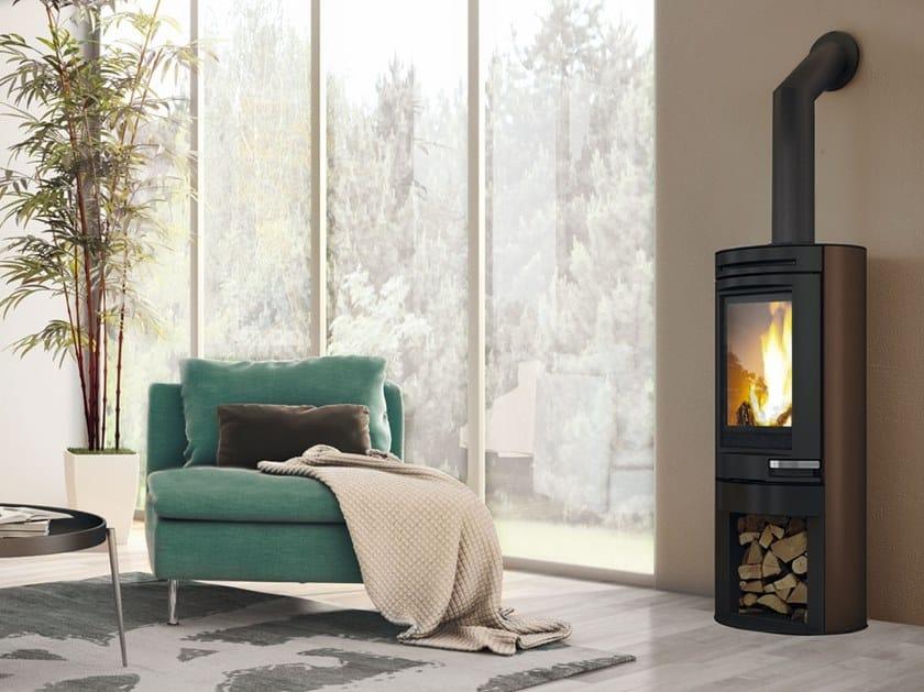 Wood-burning steel stove TALLY | Steel stove by EDILKAMIN