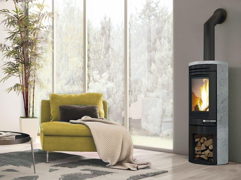 Wood-burning Soapstone stove TALLY | Soapstone stove by EDILKAMIN
