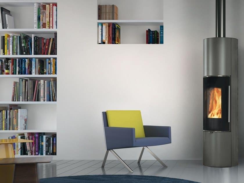 Wood-burning steel stove TALLY UP S | Steel stove by EDILKAMIN